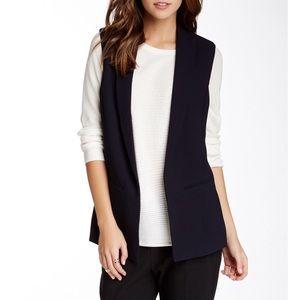 Vince Camuto Navy Open Front Blazer Vest Size 4